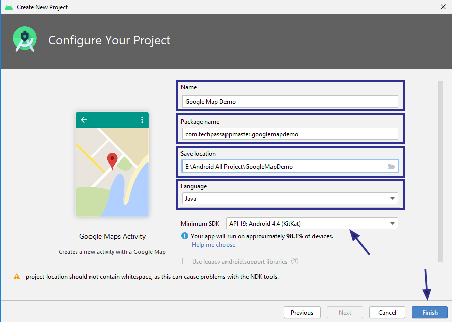 How to Add the Google Map to the Android Studio Project
