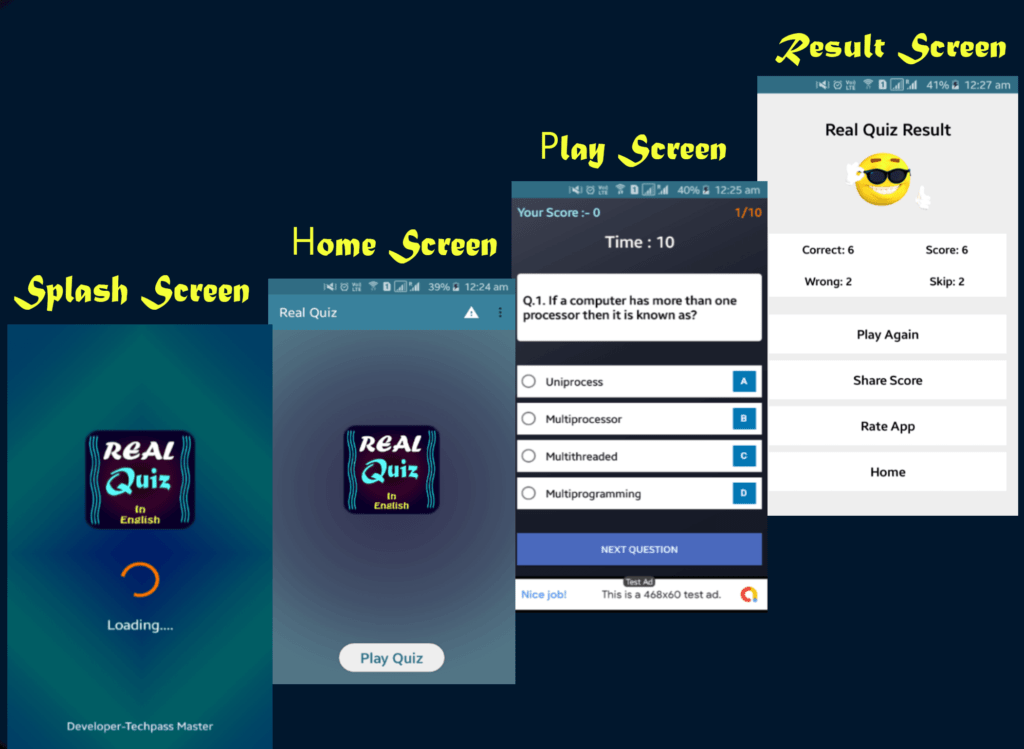 How to design app UI for Quiz App [Step By Step]
