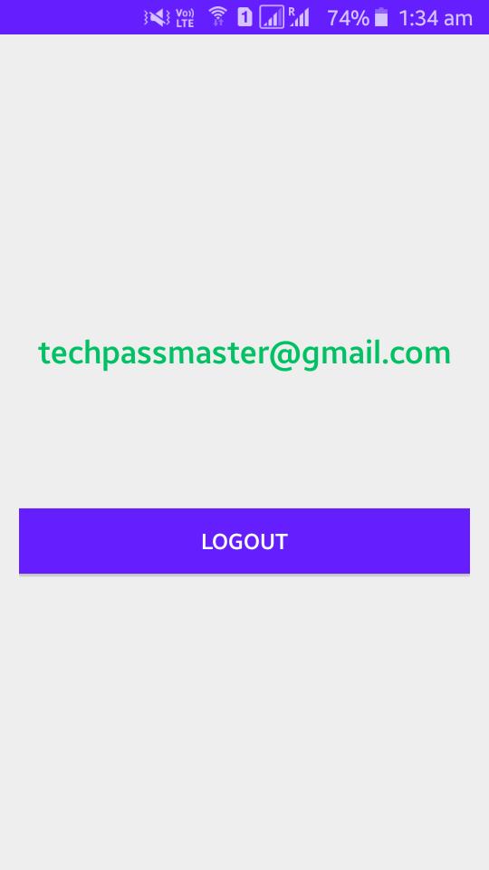 Firebase - Logout Screen