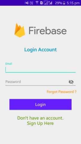 Firebase- Login screen