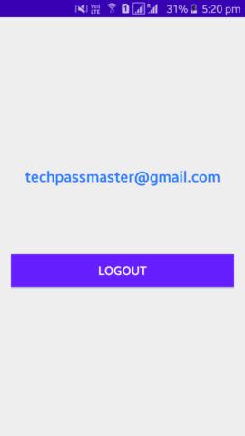 Firebase- Logout Screen